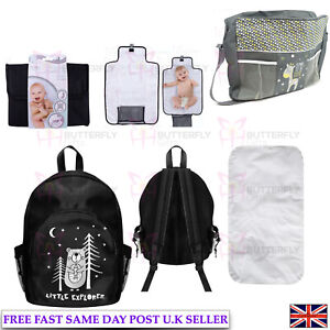 Portable Foldable Washable Baby Travel Diaper Changing Mat or Bag or Full Set