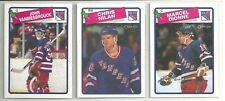 1988-89 O-PEE-CHEE Hockey New York Rangers 12-card Team Set John Vanbiesbrouck
