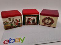Set of 3 Potpourri Press Square Christmas Tins CHRISTMAS TINS
