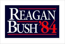 CafePress Reagan Bush '84 Campaign Bumper Sticker Car Truck Window Decal Decor