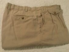 Men's Faconnable Bermuda Golf Shorts Size 40 Tan Chino