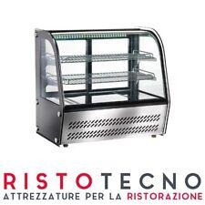Espositore Vetrina refrigerata da banco Vetro Curvo Temp. +2°/+8°C Lt 100 VPR100
