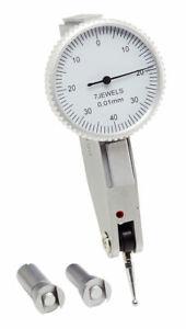 VOBECO Fühlhebelmessgerät Feinzeiger 40 mm Skala Messbereich 0,8 mm Abl. 0,01 mm
