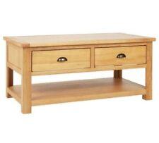 Heart Of House Kent 2 Drawer Oak & Oak Veneer Coffee Table