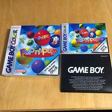Nintendo Gameboy Box Only - Pop'n Pop + manual