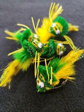 Bass Flies Green Frogs Fly Fishing Flies # 4 Frontier Yellow Warm Water