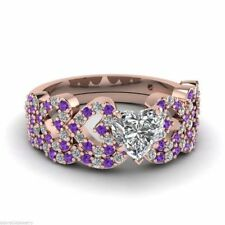 Wedding Band Amethyst Sterling Silver Fine Rings
