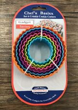 NEW Set Of 6 Scone COOKIE CUTTERS Assorted Fluted Round