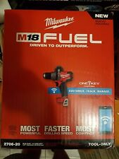 """MILWAUKEE 2706-20 M18 FUEL BRUSHLESS 1/2"""" Hammer Drill/Driver ONE-KEY Tool Only"""