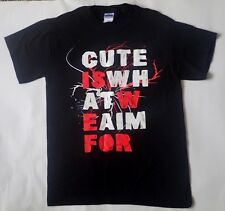 Cute is what we aim for t-shirt in black - Size S