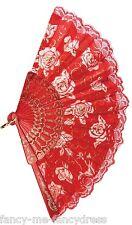 Complementos de mano color principal rojo para disfraces y ropa de época