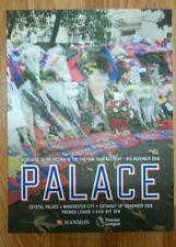 Crystal Palace vs Manchester City  1-2  19/11/2016 Official Match Programme