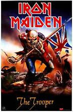 "IRON MAIDEN ""THE TROOPER"" Poster [Licensed-NEW-USA] 22""x34"" Piece Of Mind Album"