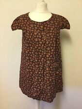 Vintage 1960s 70s Floral Smock Top Cotton Pockets Small