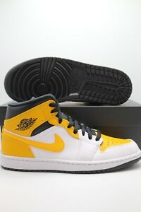 Nike Air Jordan 1 Mid University Gold White Black 554724-170 Men's & GS Sizes