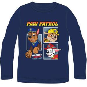 Paw Patrol  Langarm-Shirt   Gr. 104 - 134  Blau    NEU