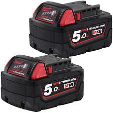 Genuine Milwaukee M18 Cordless 18V battery 5.0AH  Kit - 2 Batteries AU Model