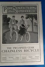 Antique Vintage POPE chainless Bicycle Catalog Advertising Ladie's Home Journal