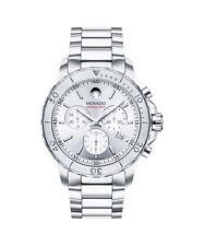 Relojes de pulsera Chrono de acero inoxidable plateado para hombre
