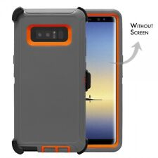For Samsung Galaxy Note 8 Defender Case Cover [Belt Clip Fits Otterbox] GY OR
