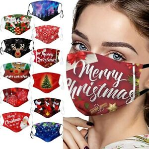 Adult Breathable Reusable Washable Reindeer Santa Xmas Tree Christmas Face Masks