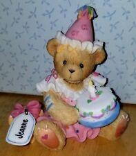 Rare New Cherished Teddies - Jeanne - Girl With Birthday Cake - 864390