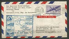 *OSBURGH - USA / GUATAMALA. 1946. FIRST FLIGHT HOUSTON TO GUATAMALA CITY. ARRIVA