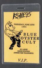 1994 Blue Oyster Cult Concert Tour Backstage Pass Laminate KSHE 95 🎸 STL
