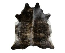 New Brazilian Cowhide Rug Leather DARK BRINDLE 6'x8' Cow Hide Rug Cow Leather