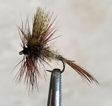 MARCH BROWN MAYFLY DRY FLY FISHING FLIES 6 x SIZE #14