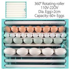 60+ Eggs Automatic Incubator Chicken Quail Bird Tray Poutry Rotate 220V New