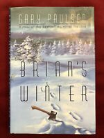 INSCRIBED - Brian's Winter by Gary Paulsen (1996, Hardcover)