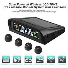 Car MT Solar Wireless TPMS Tire Pressure Monitoring System w/ 4 External Sensors