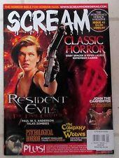 SCREAM Horror Magazine RESIDENT EVIL Final Chapter JOHN CARPENTER Company Wolves