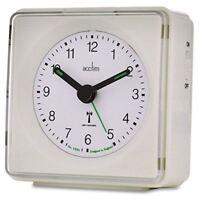 Acctim Piper Alarm Clock, White, Radio Controlled 71432