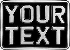 7x5 black kids text age motorcycle pressed number plate bike metal aluminium 1x