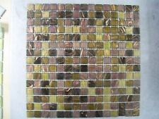 33 x SHEETS OF GLASS MOSAIC TILES SPARTAN MIX
