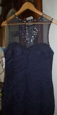 Adrianna Papell Blue Polyester Evening Sleeveless Cocktail Dress - Size 12