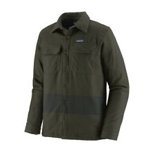 Patagonia Insulated Fjord Flannel Jacket One Stripe Basin Green - WINTER SALE!
