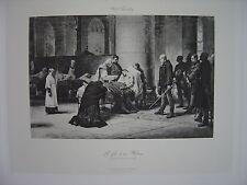 Grande Estampe originale Nils Forsberg La fin d'un Héros Siège de Paris 1870 -71