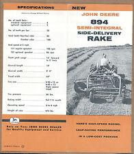 Old John Deere Side Delivery Rake Brochure