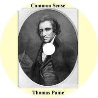 Common Sense, Thomas Paine Audiobook unabridged English Literature 3 Audio CDs