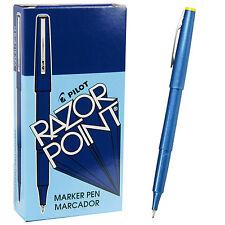 Pilot Razor Point Pens 11004 Blue 03mm Extra Fine Plastic Point Pen 1 Dozen