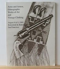 Butterfield Auction Catalog: Arms & Armor, Ethnographic Works of Art 8/8/1989