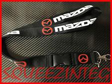 MAZDA LANYARD * BLACK * RX7 RX8 MAZDASPEED 13B MIATA PROTEGE 2 3 5 6 KEY CHAIN