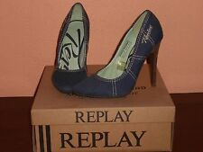 SCARPE DONNA MARCA REPLAY IN TELA JEANS-CON SCATOLA ORIGINALE