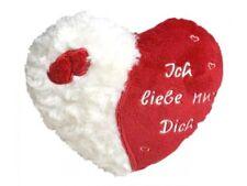 """Herz Kissen """"Ich liebe nur Dich"""" Plüschkissen Kissenherz 20 cm Valentinstag"""