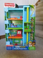 Fisher Price Little People Friendly Place apartment building NEW gym preschool