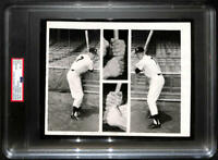 1956 Mickey Mantle Original Type 1 Photo. Composite Switch Hitter Hands. PSA