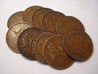 Australian Copper Commonwealth KGV Half Penny / Pennies Bulk Lot 10 pc